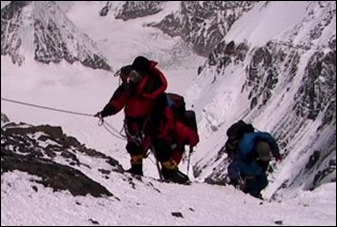 stock-footage-in-the-death-zone-climbing-towards-the-summit-of-everest-climbers-navigate-difficult-terrain