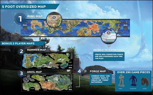 Board game review halo risk legendary edition lifein64squarefeet finally there are three different maps to choose from each different from the others and one is a halo ring map which spans 5 feet gumiabroncs Gallery