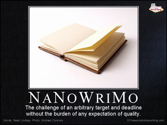 nanowrimoisajoke